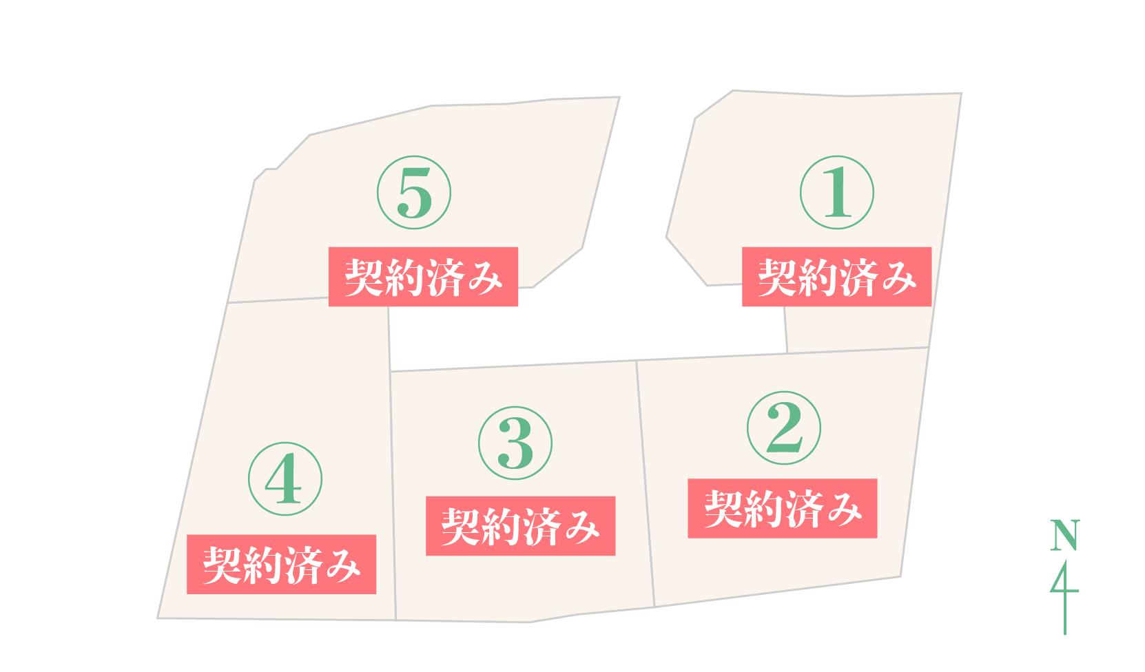 嘉川ニュー分譲地 区画図 画像