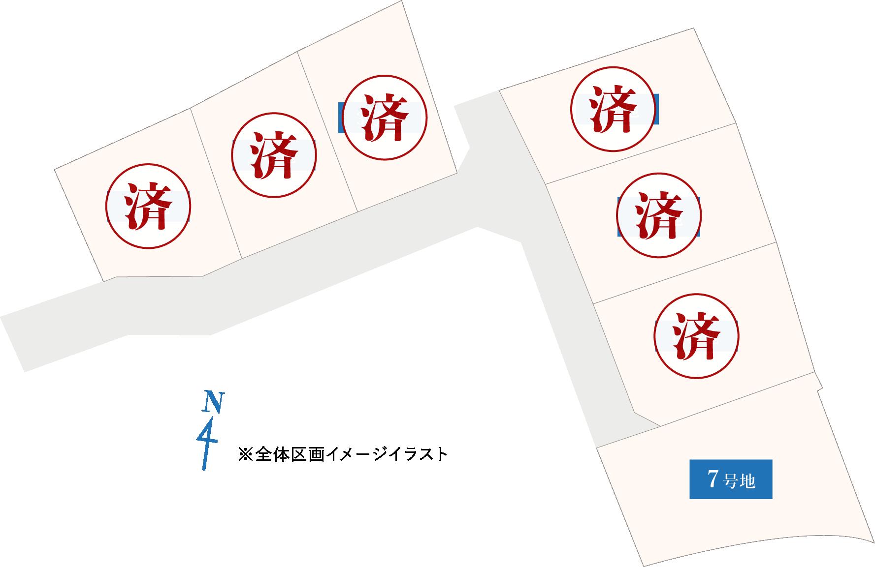 黒川ニュータウン区画図画像