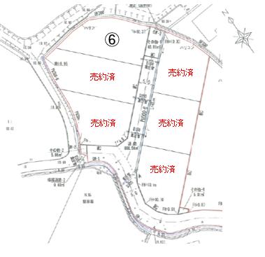 嘉川福岡分譲地 6号地の区画図 6号地 - 小郡不動産